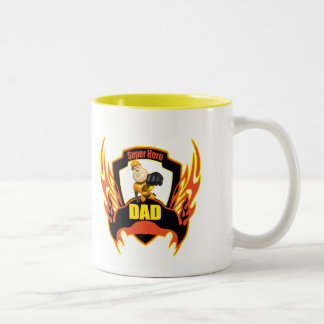 Funny Super Hero Dad Fathers Day Gifts Two-Tone Coffee Mug