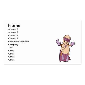 funny super hero villian peanut character business card templates