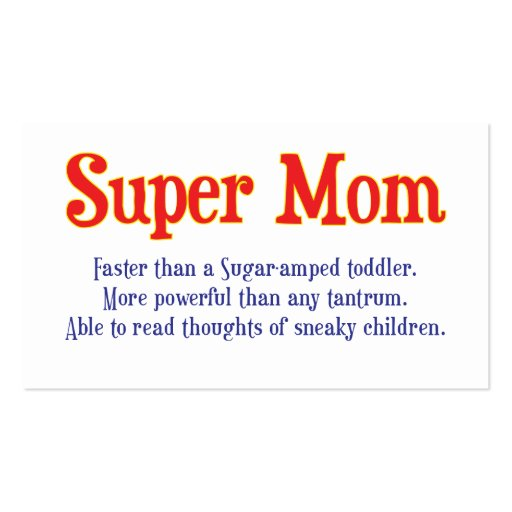 Funny Super Mom gifts and cards for your super mom
