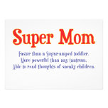 Funny Super Mom gifts and cards for your super mom Personalized Invitation