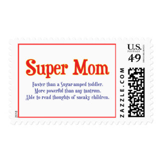 Funny Super Mom gifts and cards for your super mom Postage