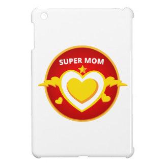 Funny Superhero Flash Mom emblem iPad Mini Cases