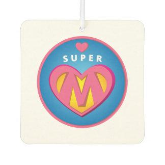Funny Superhero Superwoman Mom emblem Car Air Freshener