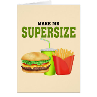 Funny Supersize Card