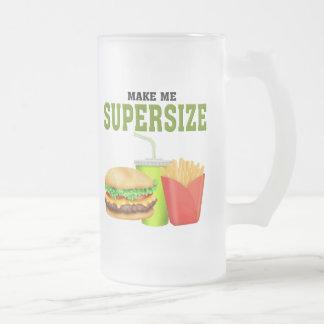 Funny Supersize Frosted Glass Beer Mug