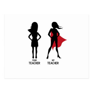 Funny SuperTeacher Love My Teacher Postcard