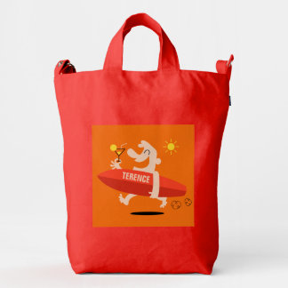 Funny Surfer with Cocktail duck bags