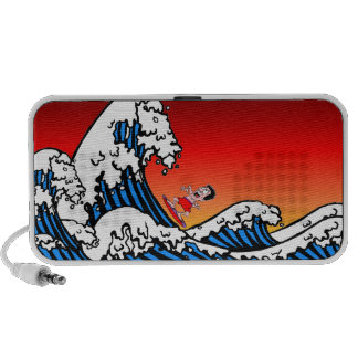 funny surfing iPhone speakers
