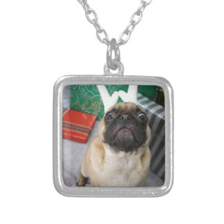 Funny surprised Holiday (Christmas) Pug dog Jewelry