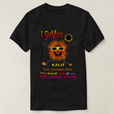 Beach Themed Funny Survivor The Great American Solar Eclipse T-Shirt