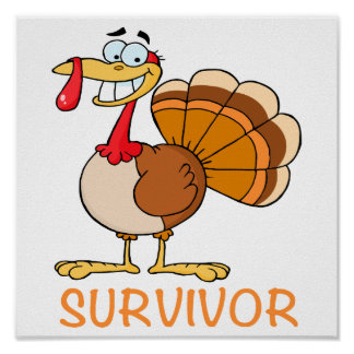 funny survivor turkey print