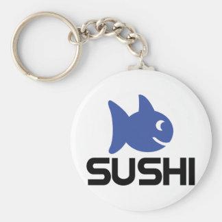 funny sushi fish icon basic round button keychain