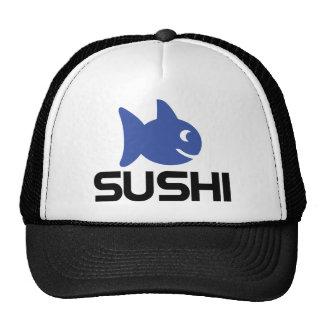 funny sushi fish icon mesh hats