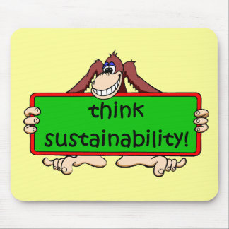 funny sustainability mouse pad