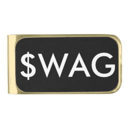 Funny Swag Dollar Sign Gold Finish Money Clip