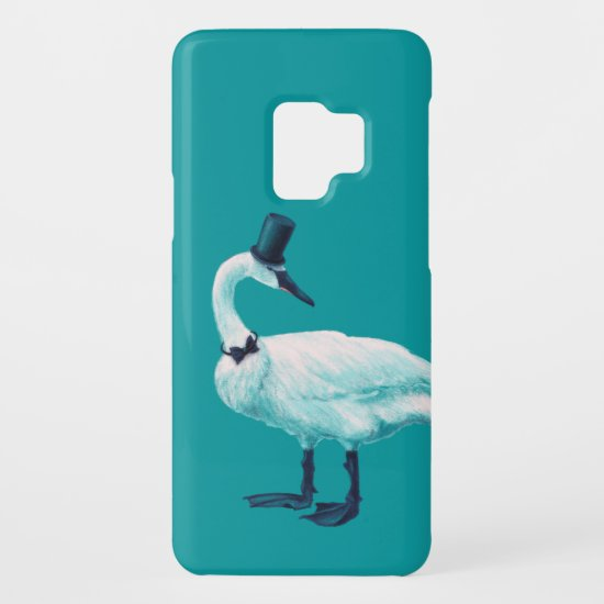 Funny Swan Gentleman With Bowtie And Top Hat Case-Mate Samsung Galaxy S9 Case