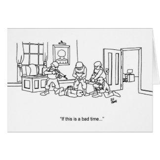 Funny Swat Team Greeting Card