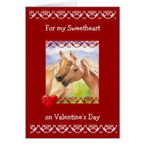 Funny Sweetheart Valentine's Day Horse Lovers Card