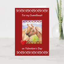 Funny Sweetheart Valentine's Day Horse Lovers Holiday Card