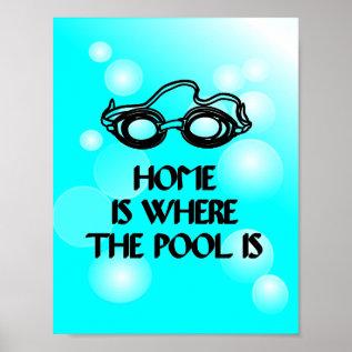 Funny Swim Quote - Poster at Zazzle