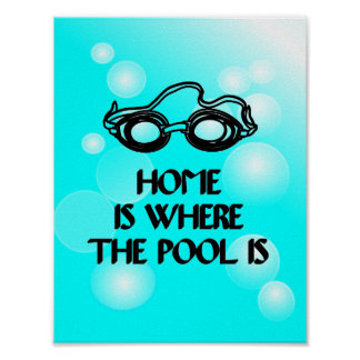 Funny Swim Quote - Poster