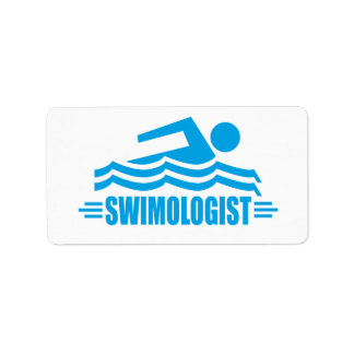 Funny Swimming Label