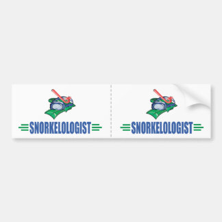 Funny Swimming, Snorkel Bumper Sticker