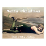 Funny Swimsuit Christmas from Florida Post Card