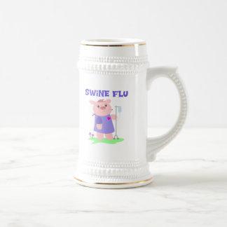 Funny Swine Flu Beer Stein