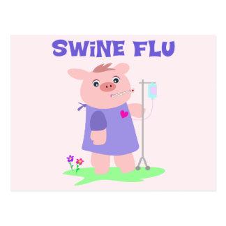 Funny Swine Flu Postcard
