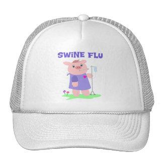 Funny Swine Flu Trucker Hat