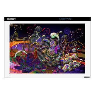 "Funny Swirls Abstract Modern Art 17"" Laptop Skins"