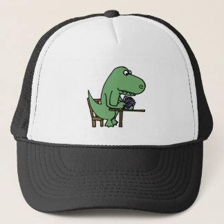 Funny T-Rex Dinosaur Playing Cards Trucker Hat