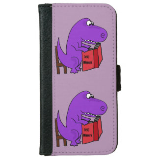 Funny T-Rex Dinosaur Reading Cookbook Wallet Phone Case For iPhone 6/6s