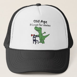 Funny T-rex Dinosaur Using Walker Trucker Hat