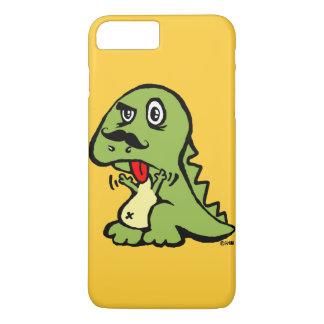 Funny T-rex hates mustache iPhone 8 Plus/7 Plus Case