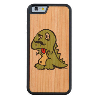 Funny T-rex hates mustache Carved® Cherry iPhone 6 Bumper Case