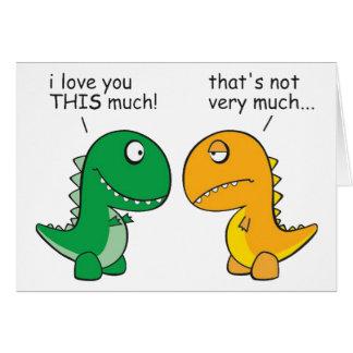 funny-T-Rex-little-arms-cartoon Card