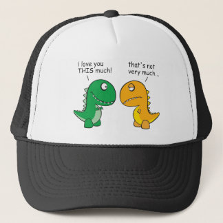 funny-T-Rex-little-arms-cartoon Trucker Hat