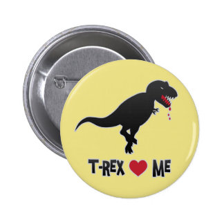 Funny T-Rex Loves (to Eat) Me Button