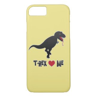 Funny T-Rex Loves (to Eat) Me iPhone 8/7 Case