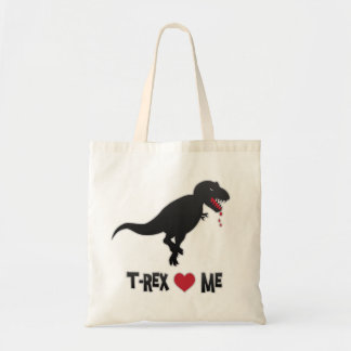Funny T-Rex Loves (to Eat) Me Tote Bag