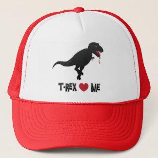 Funny T-Rex Loves (to Eat) Me Trucker Hat
