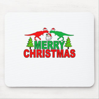 Funny T-Rex Ugly Christmas Sweater Shirts Mouse Pad