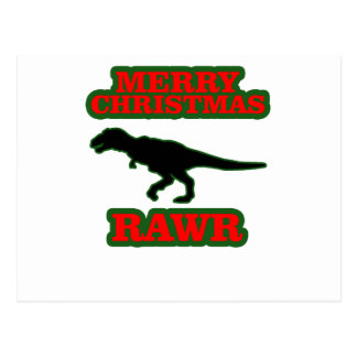 Funny T-Rex Ugly Christmas Sweater Shirts.png Postcard