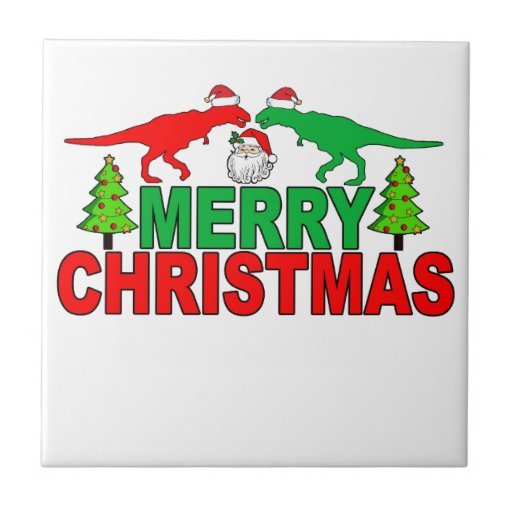Funny T-Rex Ugly Christmas Sweater Shirts Tile