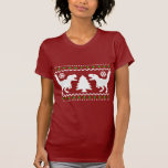Funny T-Rex Ugly Christmas Sweater T Shirt