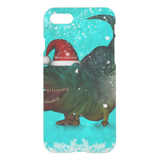 Funny T-rex wish you a merry christmas iPhone 8/7 Case