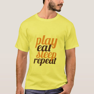 Funny T-shirt For Gamers Play Eat Sleep Repeat