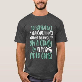 Funny T-shirt for Video Games Geek and Gamer